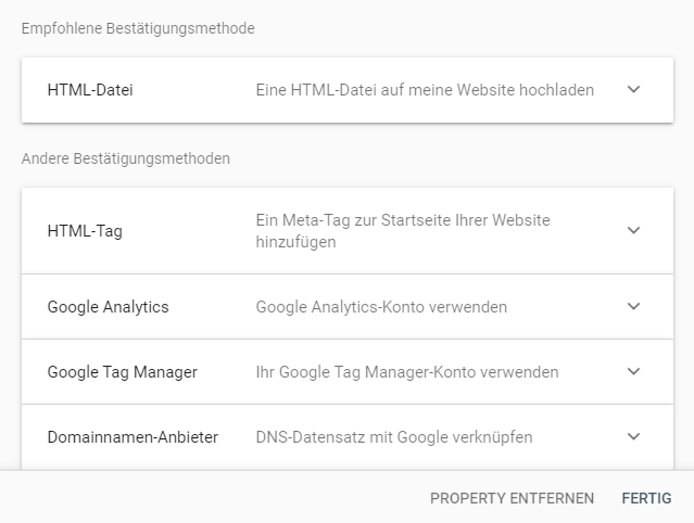 google-console-authentifizierung