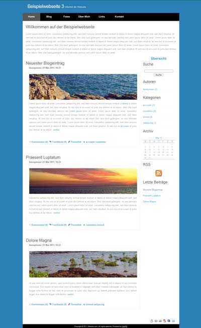 dynPG: Beispiel-Website