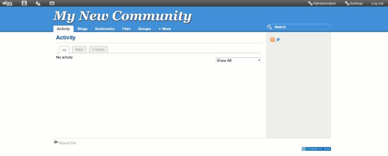 elgg: Persönliche Community-Ansicht