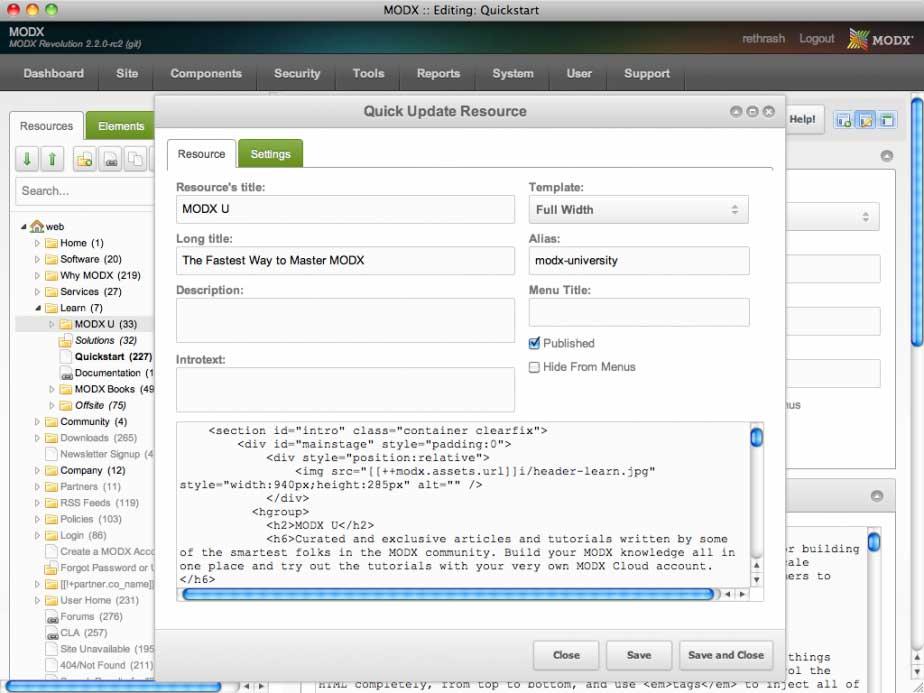 modx: Erweitertes Eingabeformular