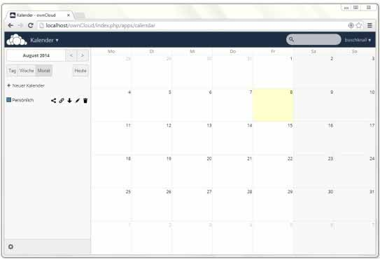 ownCloud: Kalender