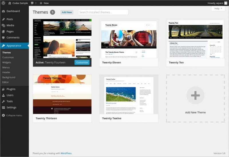WordPress: Themes