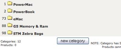 Zen Cart: Kategorieverwaltung