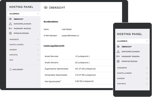 Screenshot My Panel auf Smartphone und Tablet