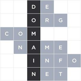 Textbausteine aus Domain und Domainendungen
