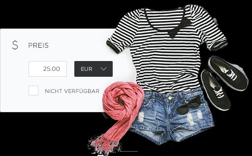 Artikelansicht eines Outfits im Onlineshop von Hoststar.