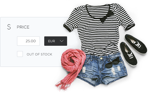 Article view of an outfit in the online shop of Hoststar