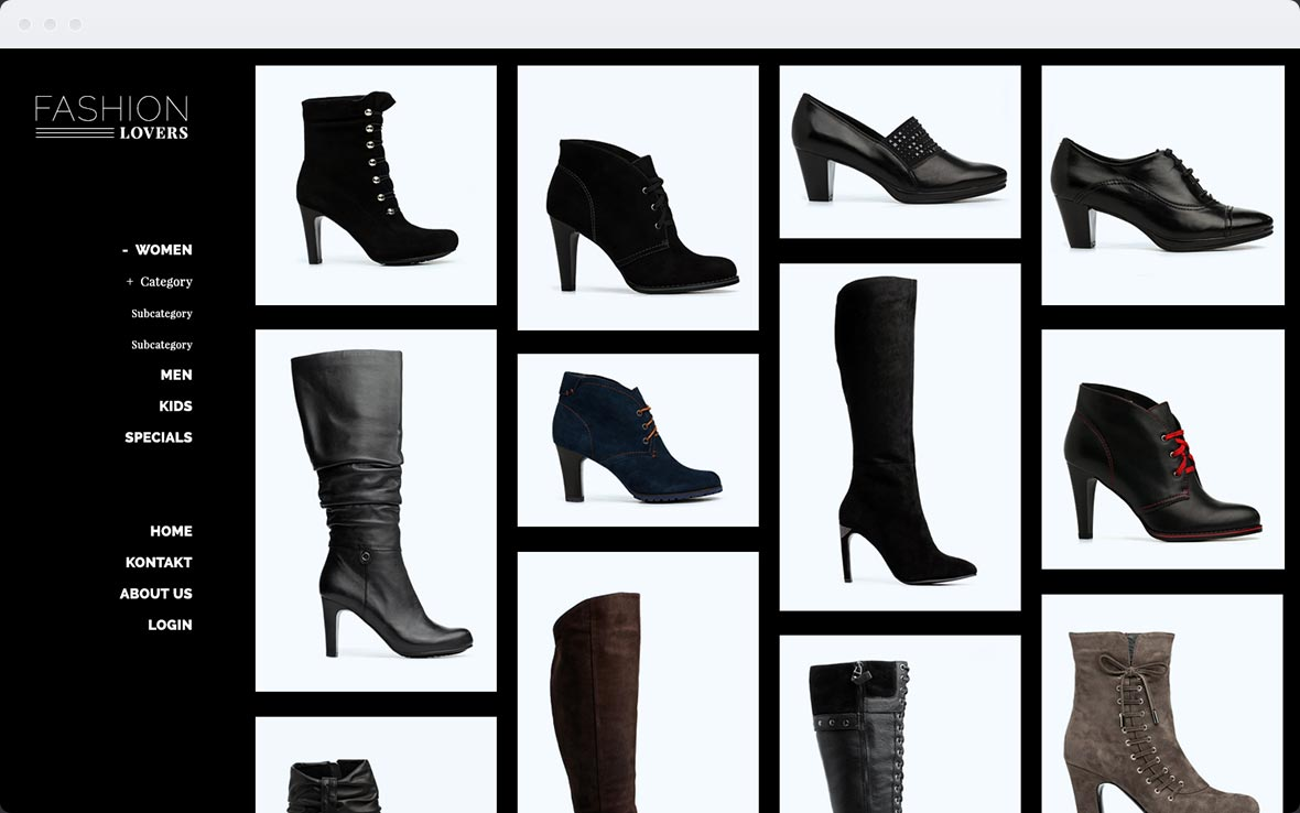 Screenshot Stylist Pro Shop-Design 2