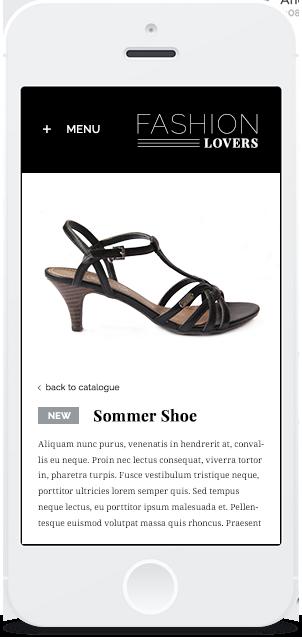 Mobile-Screenshot Stylist Pro Shop-Design 3