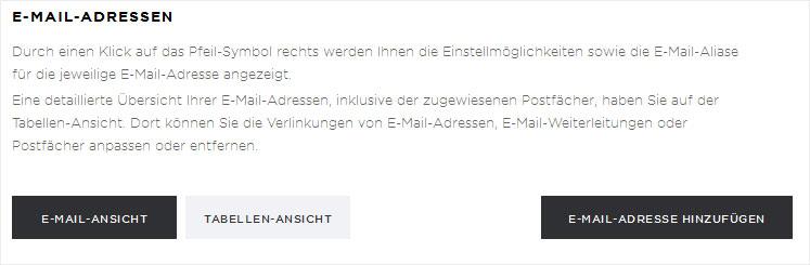 email passwort vergessen