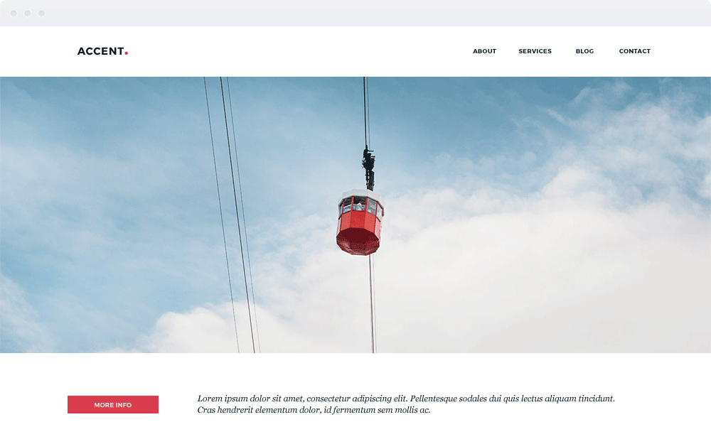 Screenshot Design Accent