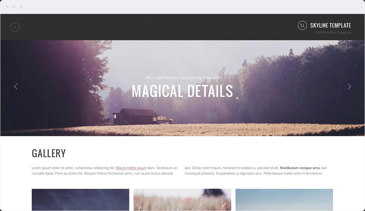 Screenshot Desktop Design Skyline 3