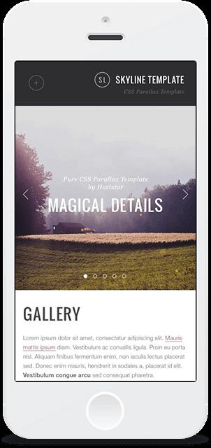 Screenshot Smartphone Design Skyline 3