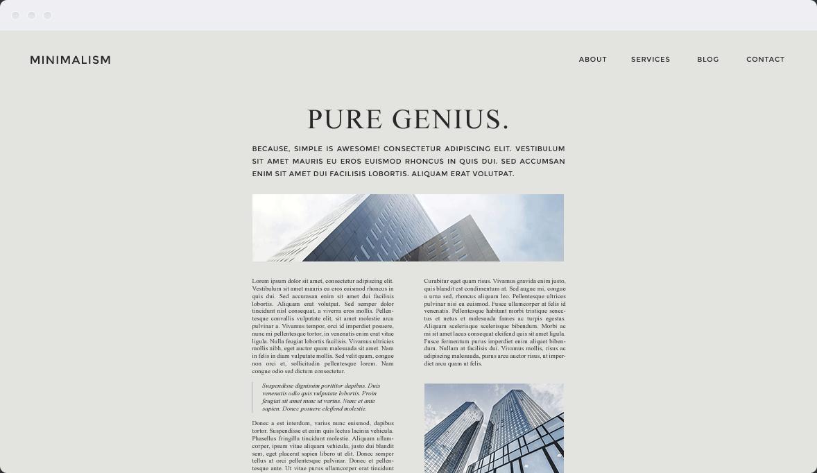 Screenshot Desktop Design Minimalism 2
