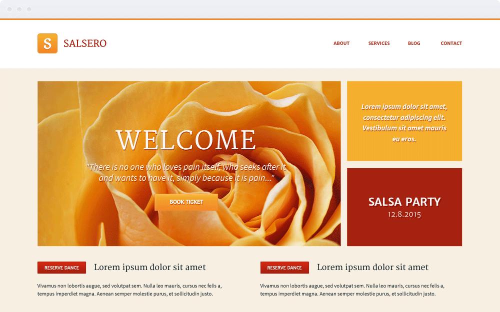 Screenshot Design Salsero