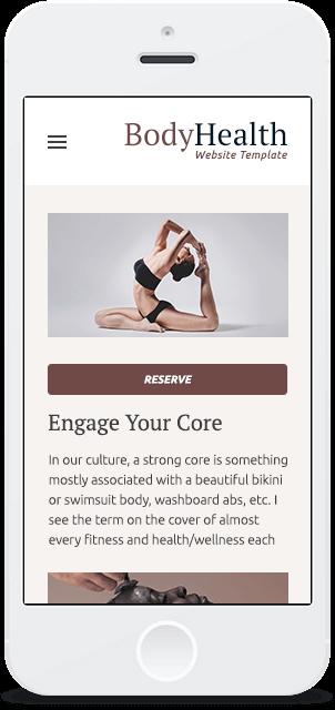 Screenshot Smartphone Design Body Health 2