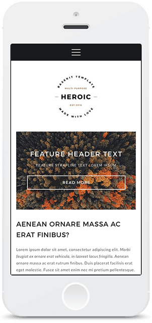 Screenshot Smartphone Design Heroic 1