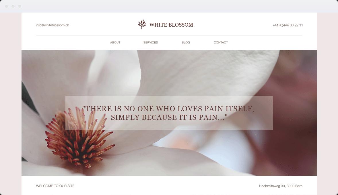 Screenshot Desktop Design White Blossom 1