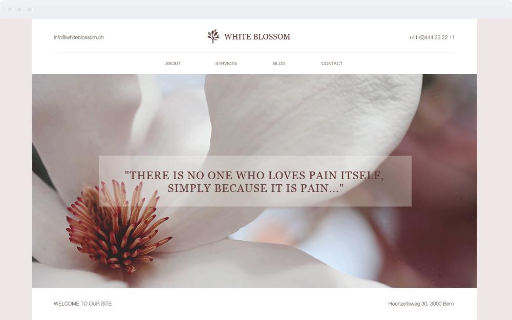 Screenshot Design White Blossom