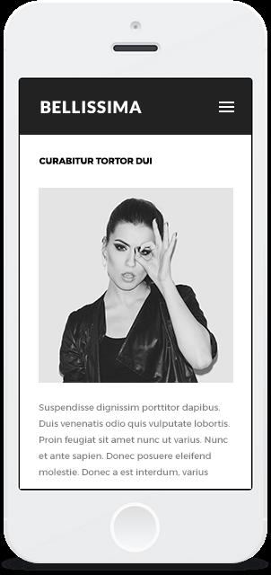 Screenshot Smartphone Design Bellissima 2