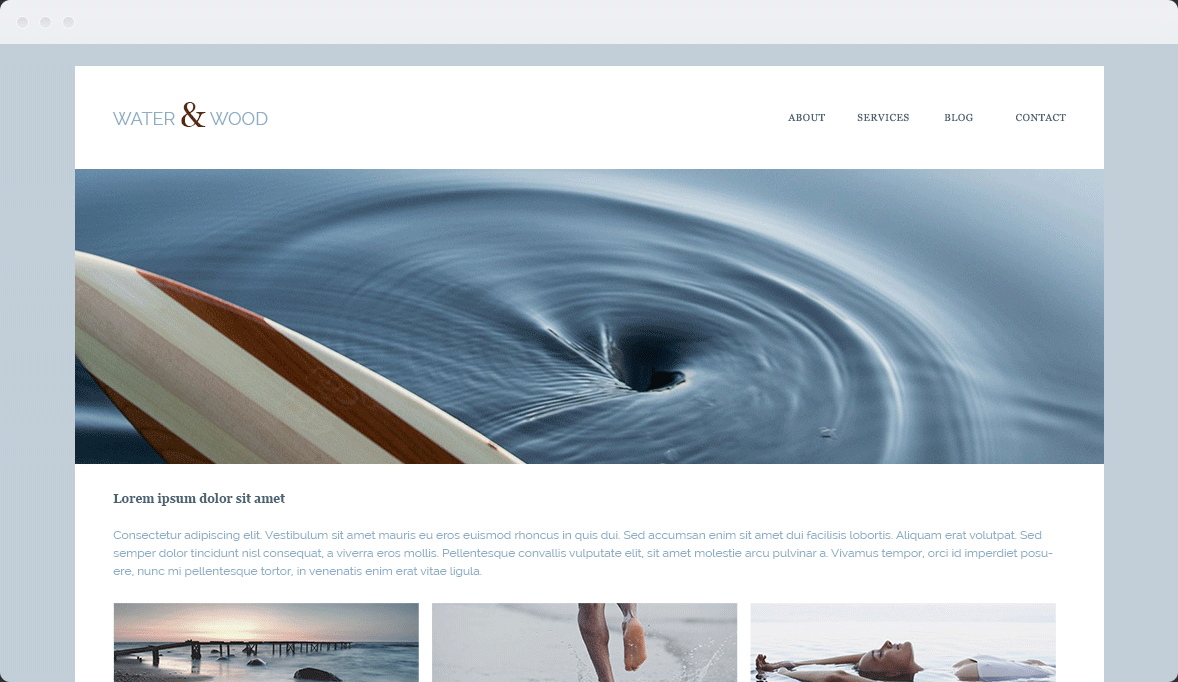 Screenshot Desktop Design Water & Wood 1