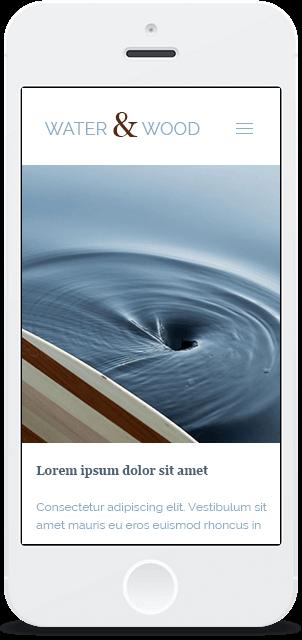 Screenshot Smartphone Design Water & Wood 1