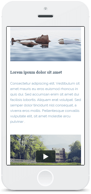 Screenshot Smartphone Design Water & Wood 2
