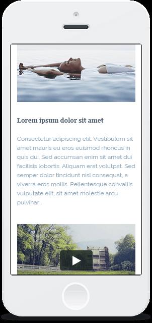 Screenshot Smartphone Design Water & Wood 2