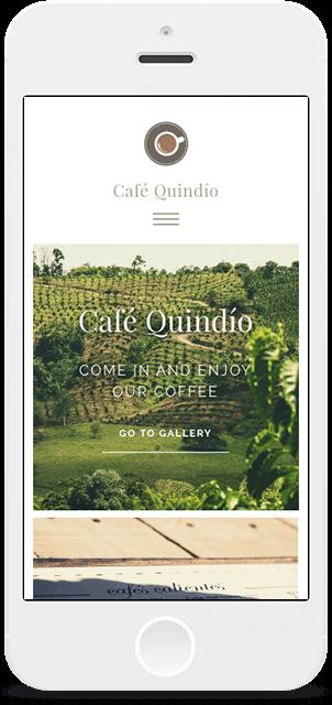 Screenshot Smartphone Design Café Quindío 1