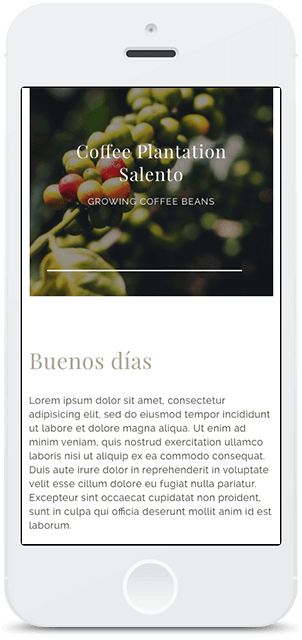 Screenshot Smartphone Design Café Quindío 2