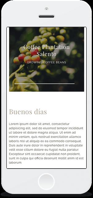 Screenshot Smartphone Design Café Quindío 2