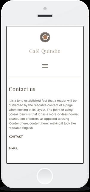 Screenshot Smartphone Design Café Quindío 3