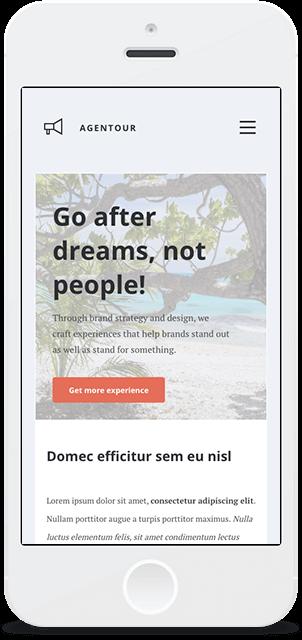 Screenshot Smartphone Design Agentour 1