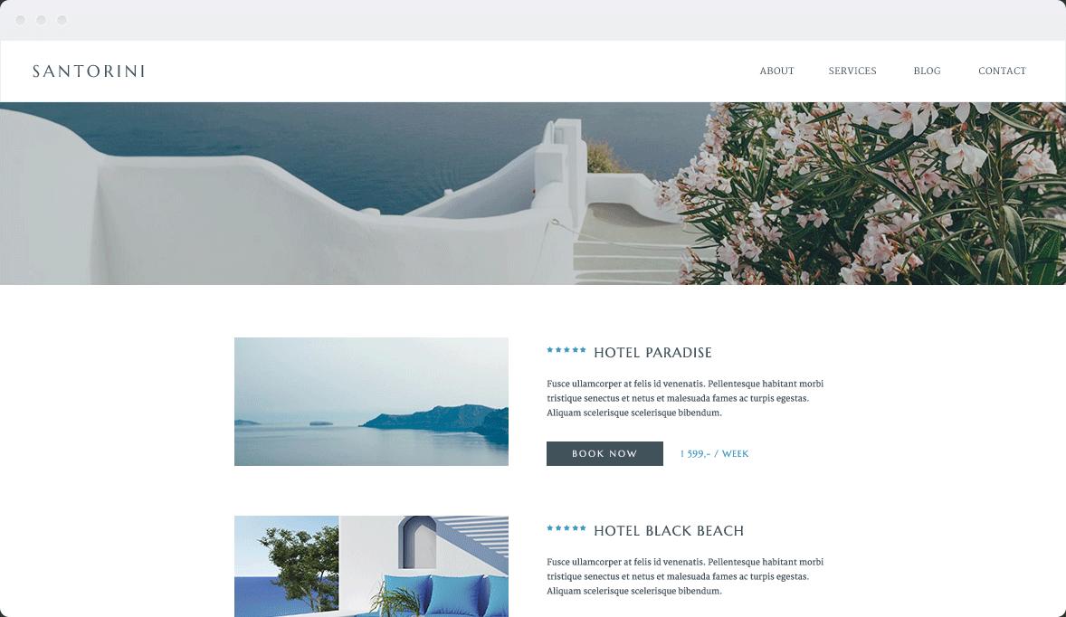 Screenshot Desktop Design Santorini 2