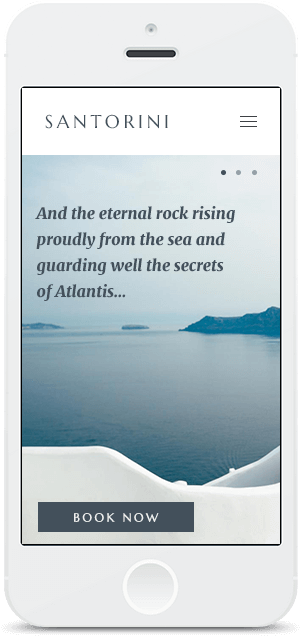 Screenshot Smartphone Design Santorini 1