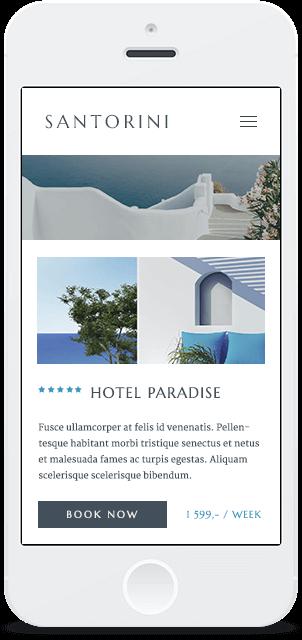 Screenshot Smartphone Design Santorini 2