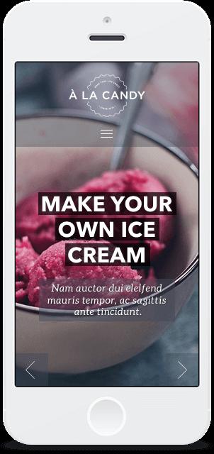 Screenshot Smartphone Design À la Candy 1