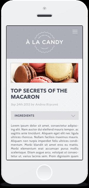 Screenshot Smartphone Design À la Candy 2
