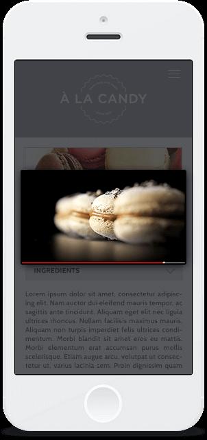 Screenshot Smartphone Design À la Candy 3