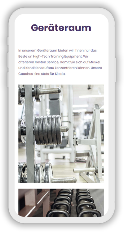 Fitness Template Mobile Screenshot 3