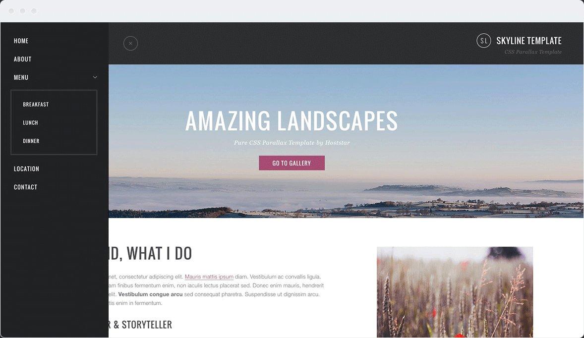 Screenshot Desktop Design Skyline 2