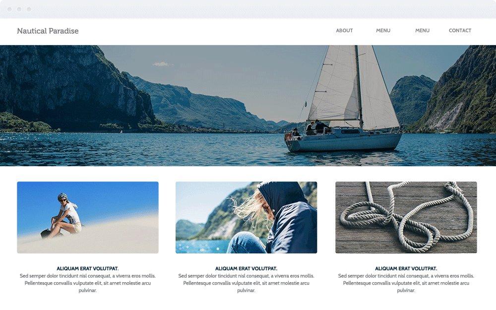 Screenshot Design Nautical