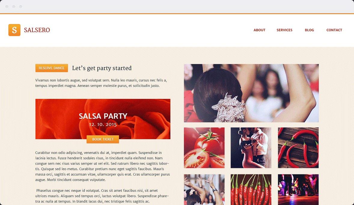 Screenshot Desktop Design Salsero 2