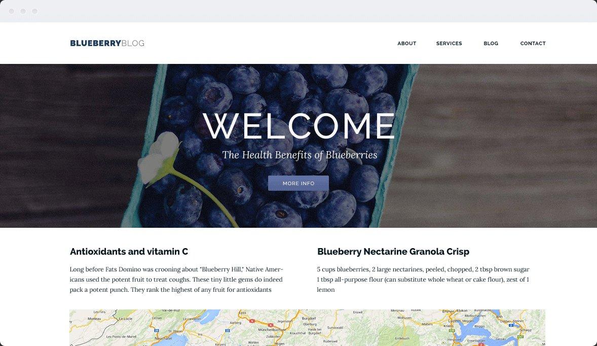 Screenshot Desktop Design Blueberry 1