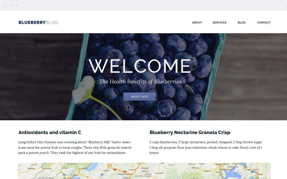 Screenshot Design Blueberry