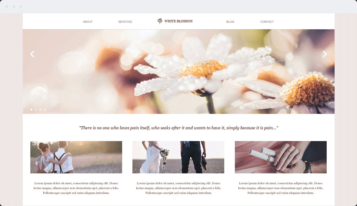 Screenshot Desktop Design White Blossom 2