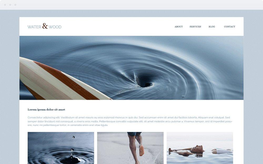 Screenshot Design Water & Wood