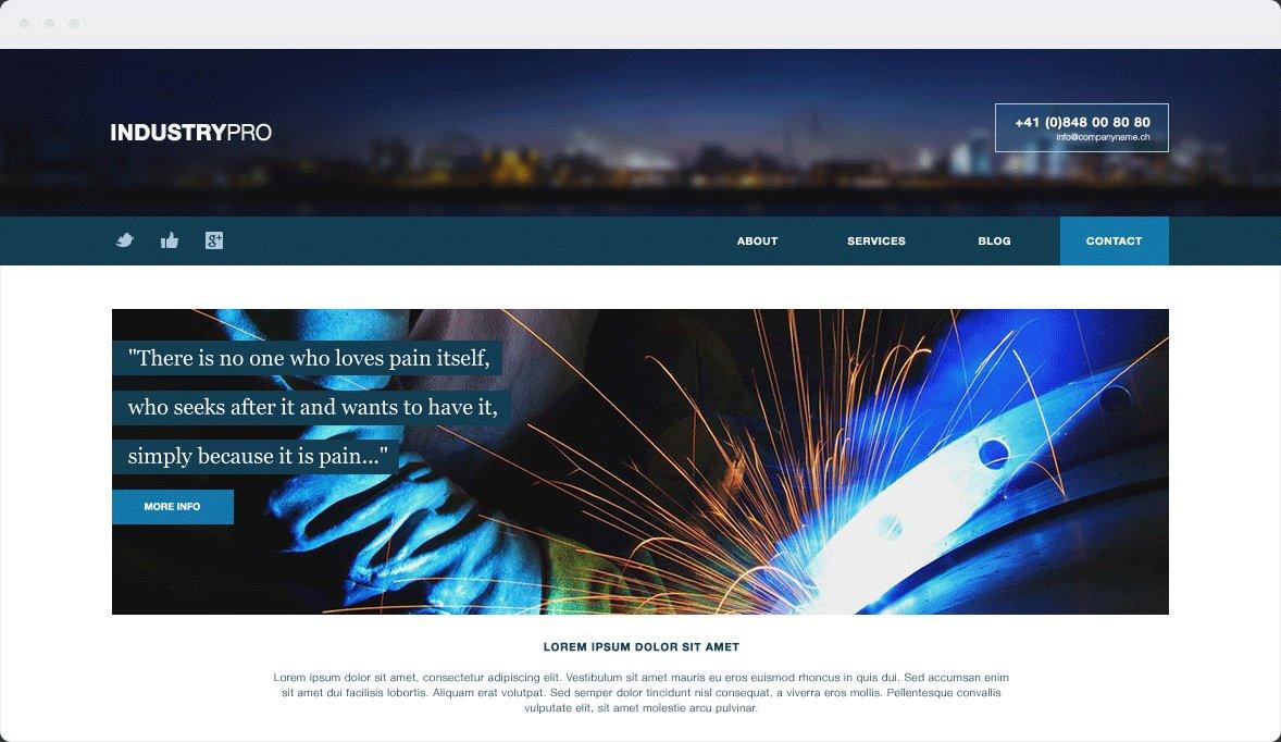 Screenshot Desktop Design Industrypro 1