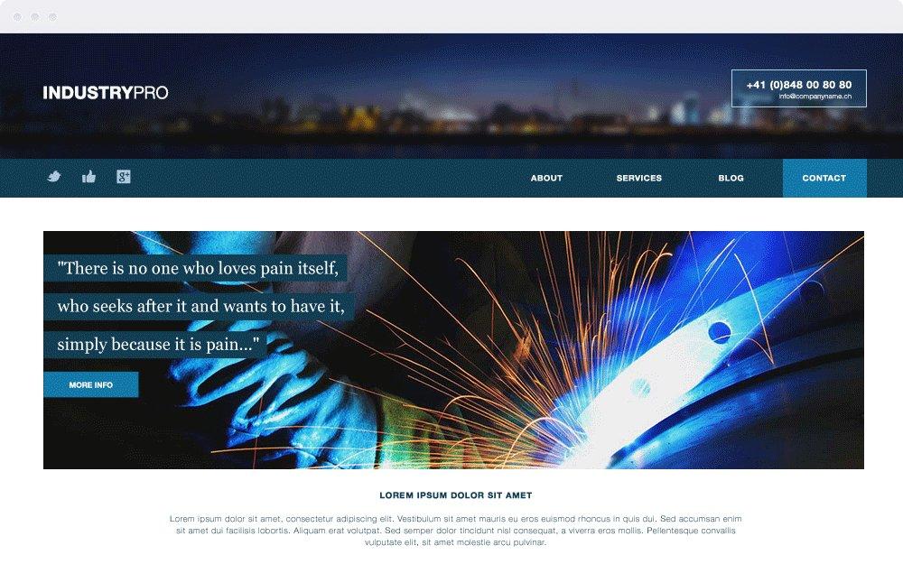 Screenshot Design Industrypro