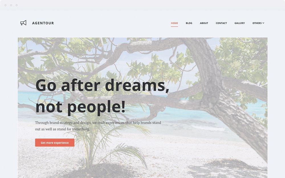Screenshot Design Agentour